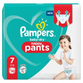 Pampers Baby-Dry PANTS Gr. 7 XXL +17kg Beutel (30 STK)