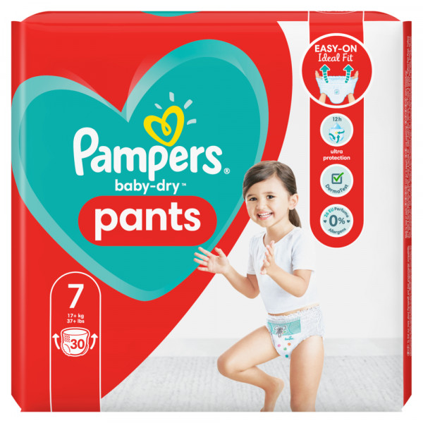 Pampers Baby-Dry PANTS T7 XXL +17kg (3 x 30 pces)