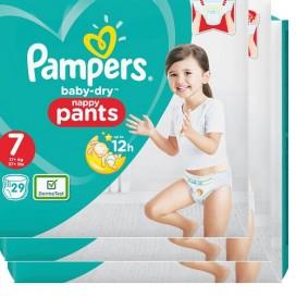 Pampers Baby-Dry PANTS Gr. 7 XXL +17kg Sparpack (3 x 29 STK)