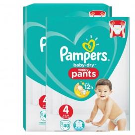 Pampers Baby-Dry PANTS Gr. 4 (9-15Kg) Sparpack (2 x 40 STK)