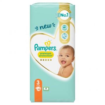 Pampers Premium Protection T3 Midi 6-10kg (48 pces)