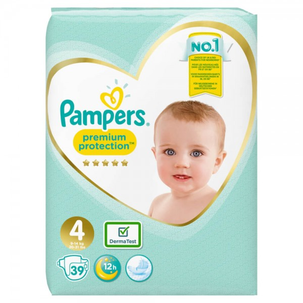 Pampers Premium Protection Gr.4 Maxi 9-14kg Sparpack (39 STK)