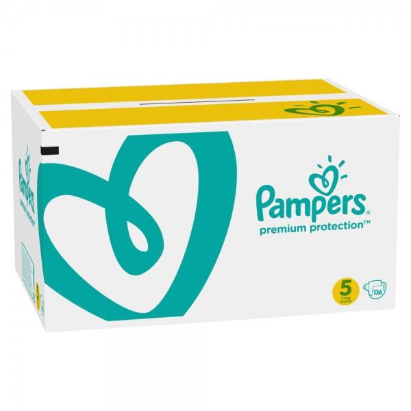 Pampers Premium Protection Gr.5  Junior 11-16kg Monatsbox (136 STK)