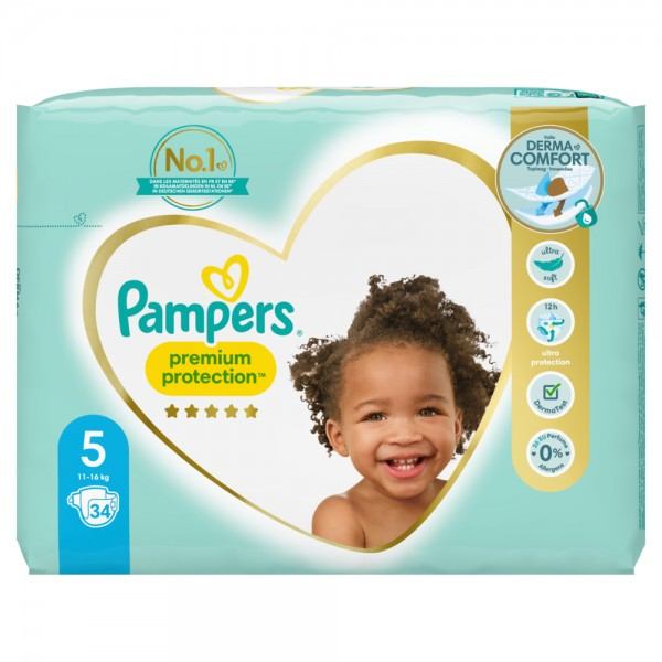 Pampers Premium Protection T5 Junior 11-16kg (34 pces)