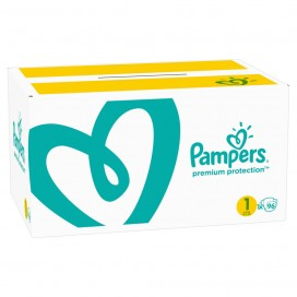 Pampers Premium Protection Gr.1 Newborn 2-5kg Jumbo+ Pack / Halbmonatsbox (96 STK)