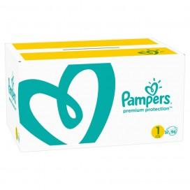 Pampers Premium Protection T1 Newborn 2-5kg boîte demi-mois (96 pces)