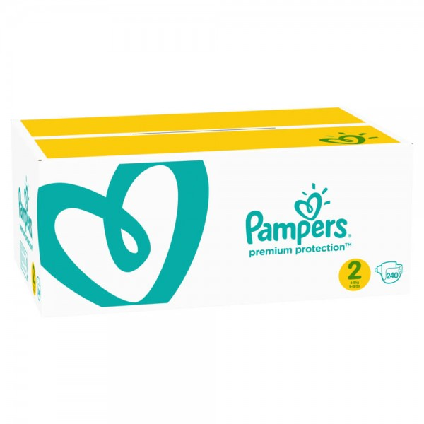 Pampers Premium Protection Gr.2 Mini 4-8kg Monatsbox (240 STK)