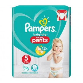 Pampers Baby-Dry PANTS Gr. 5 Junior 12-17kg Beutel (36 STK)