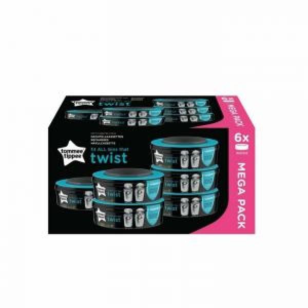 Sangénic TWIST Ersatzkassetten mit Zitrusduft (6 STK)
