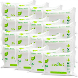 Swilet Lingettes pour visage&corps BIO (36 x 20 pces)