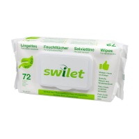 Swilet Lingettes pour visage&corps BIO (72 pces)