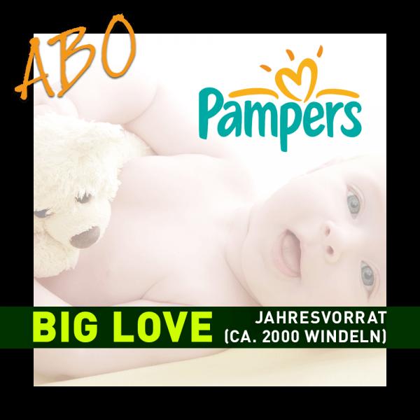 Windelabo PAMPERS BIG LOVE- JAHRESBEDARF   ca. 2000 Stk.