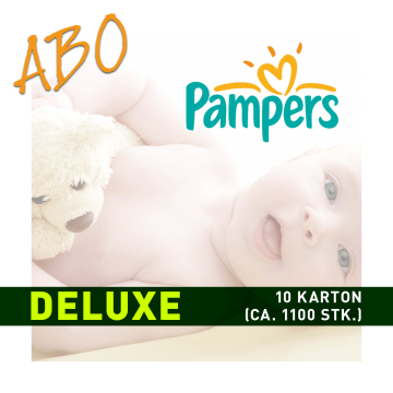 Windelabo PAMPERS DELUXE-GROSS | 10 Karton (ca. 1100 Stk.)