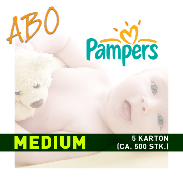 Windelabo PAMPERS MEDIUM - MITTEL | 6 Karton (ca. 600 Stk.)