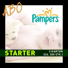 Windelabo PAMPERS STARTER-KLEIN | 3 Karton (ca. 300 Stk.)