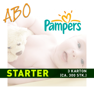 Windelabo PAMPERS STARTER-KLEIN | 4 Karton (ca. 400 Stk.)