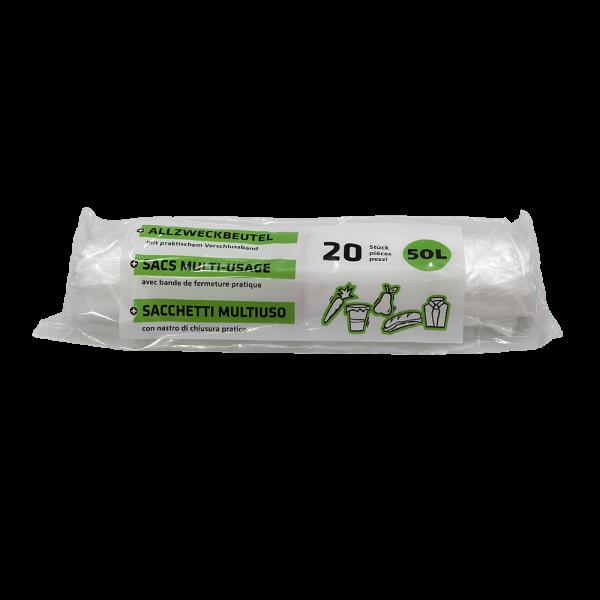 Mehrzweckbeutel transparent 50-55L (20 STK)