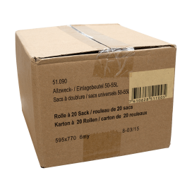 Mehrzweckbeutel transparent 50-55L Karton (20 Rollen à 20 STK)
