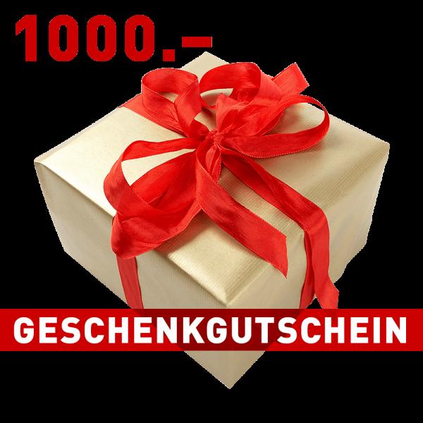 Geschenkgutschein CHF 1000.–