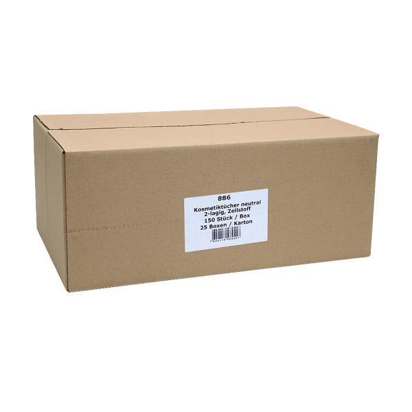 Kosmetiktücher neutral Karton (25 x 150 STK) bestprice