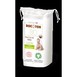 Bocoton Bio Maxi Carrés Bébé 90 X 120mm (60  pces)