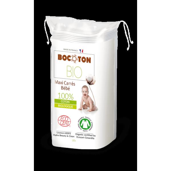 Bocoton Baby Bio Wattepads Maxi 90 X 120mm (60 STK)