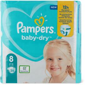 Pampers Baby-Dry Gr. 8 Extra Large Plus 17+kg Sparpack (28 STK)