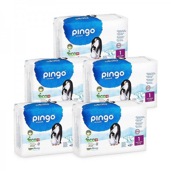 Pingo Newborn (2-5 kg) Karton (5 x 27 STK)