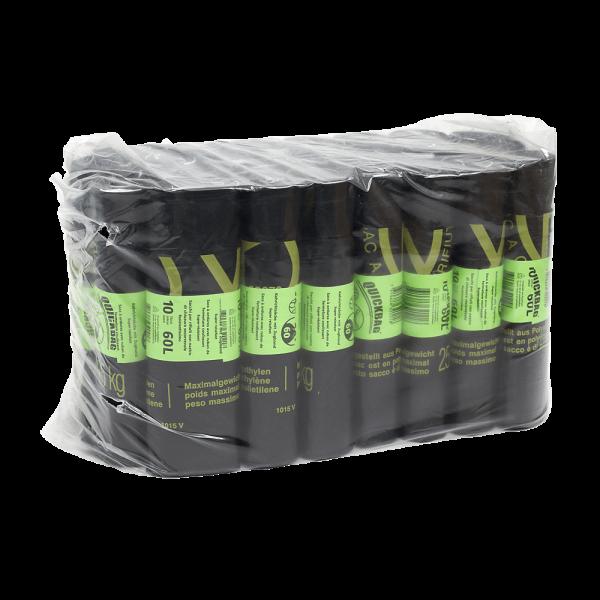 Abfallsäcke Grosspackung Quickbag 60L (24 Rollen à 10 STK)