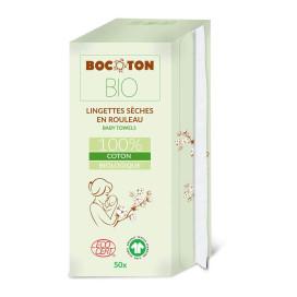 Bocoton Bio Lingettes Bébé Sèches (50 pces / Rouleau)