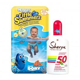 Huggies-Paquet: Couches pour la piscine marque Huggies Taille 2-3 & KIDS Kids Lait de Soleil  SPF 50 (175ml)