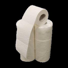 WC - Papier 4-lagig 100% Zellstoff 150 Blatt (6 Rollen)