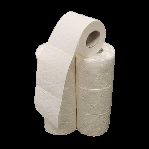 Papier toilette 4 plis 100% cellulose 150 coupon (6 rouleaux)