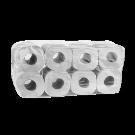 WC - Papier 3-lagig 100% Zellstoff 250 Blatt (8 Rollen)